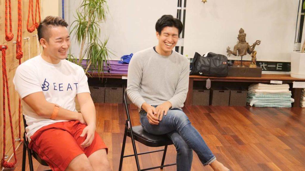 HIITトレーニングについて語るBEAT代表の岩佐さんとインストラクターのKotaさん