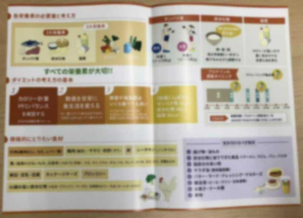 fis大阪の食事指導リーフレット