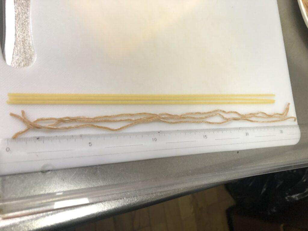 ベースパスタ(アジアン)の長さは約28cm